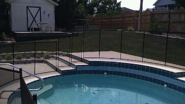 Gallery baby barrier pool fence of central florida for Winter garden pool