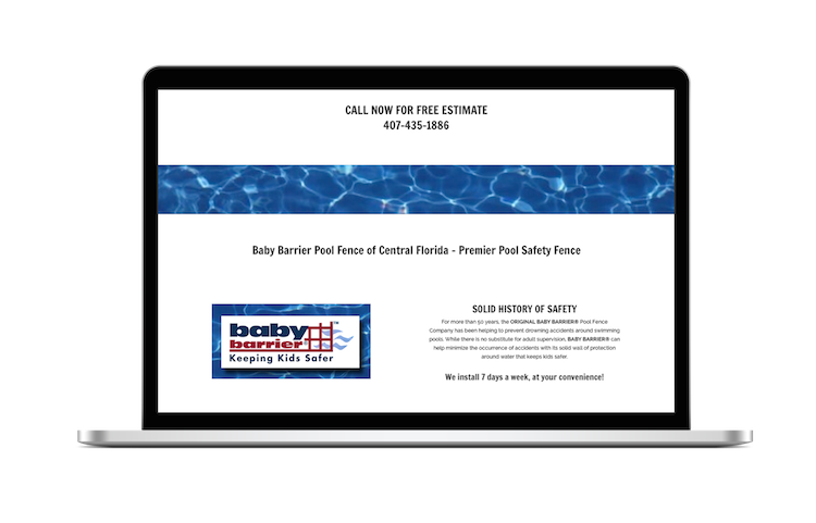 Mac Baby Barrier Pool Fence of Central Florida Premier Pool Safety Fence