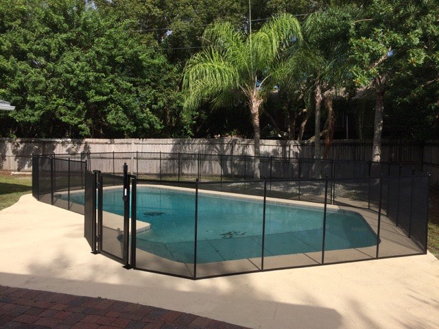 Winter park family pool fence baby barrier of central for Winter garden pool