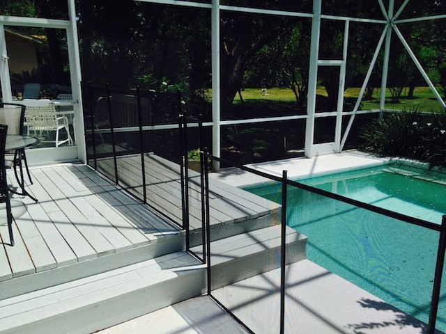 Pool Fence On Steps
