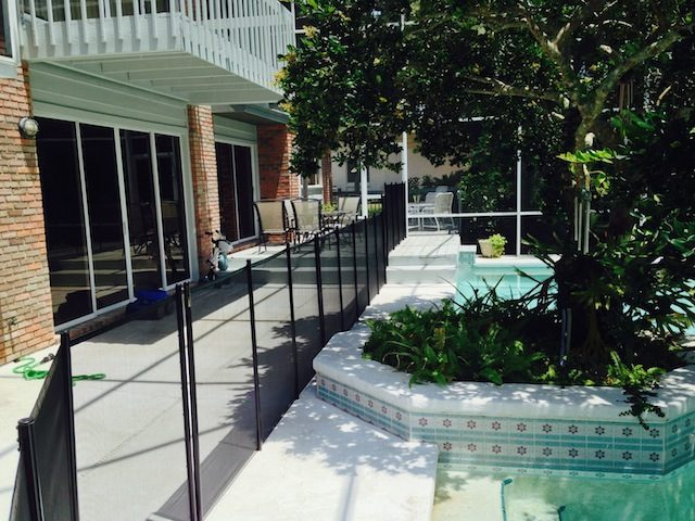 Baby Barrier Pool Guard Fence Steps