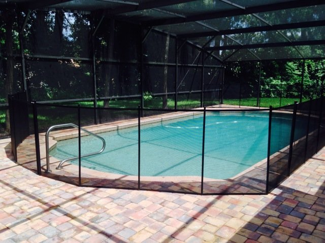 Screen Enclosure With Pool Fence Baby Barrier 174 Of
