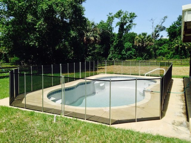 Baby Barrier Family Pool Fence Deland