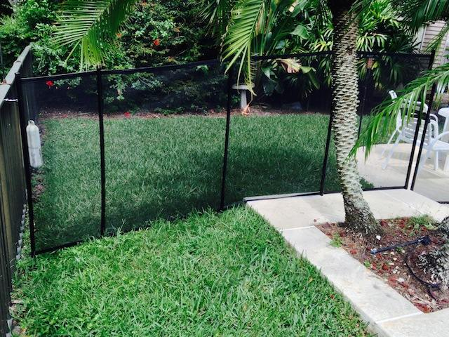 Pool Fence Installed In Grass Baby Barrier Of Central Florida