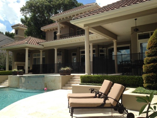 Custom home pool fence baby barrier of central florida for Designer homes of central florida