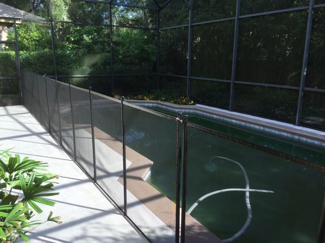 Heathrow Pool Safety Fence